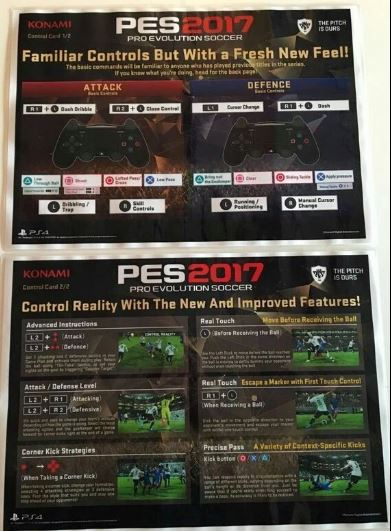 PES 2017 Controls - Leaked