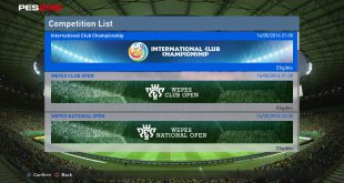 PES Competitions Tournaments
