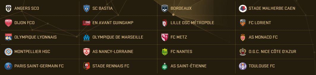 PES 2017 Teams - Ligue 1