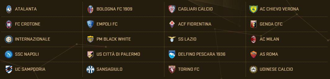 PES 2017 Teams - Serie A