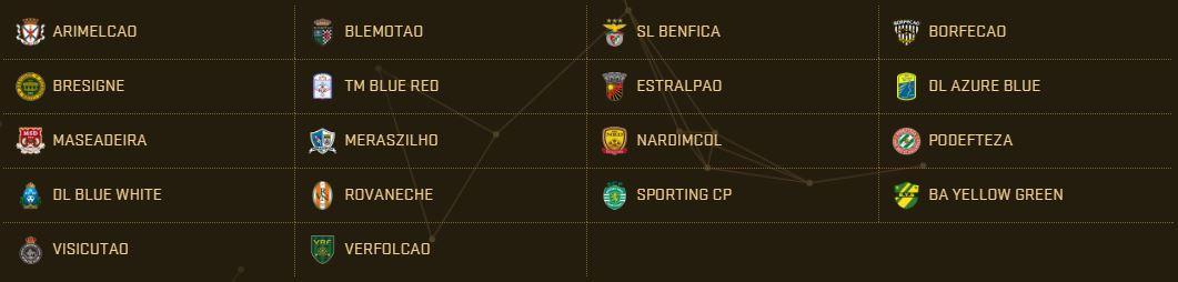 PES 2017 Teams - Primeira Liga