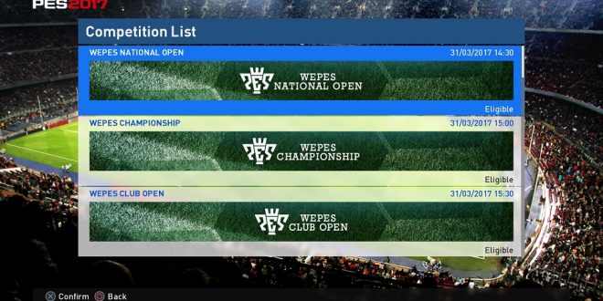 PES Competitions - Online PES 2018 Competitions