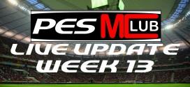 Live Update Week 13 - Cover
