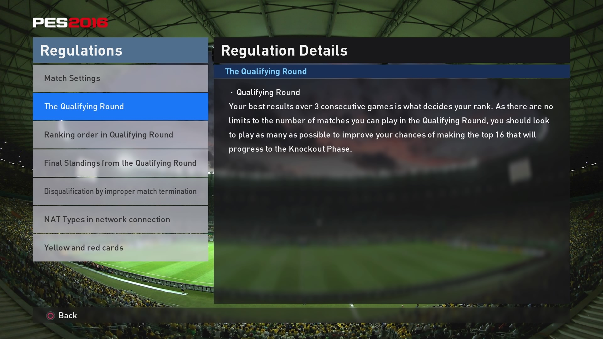 PES Competitions Qualifying