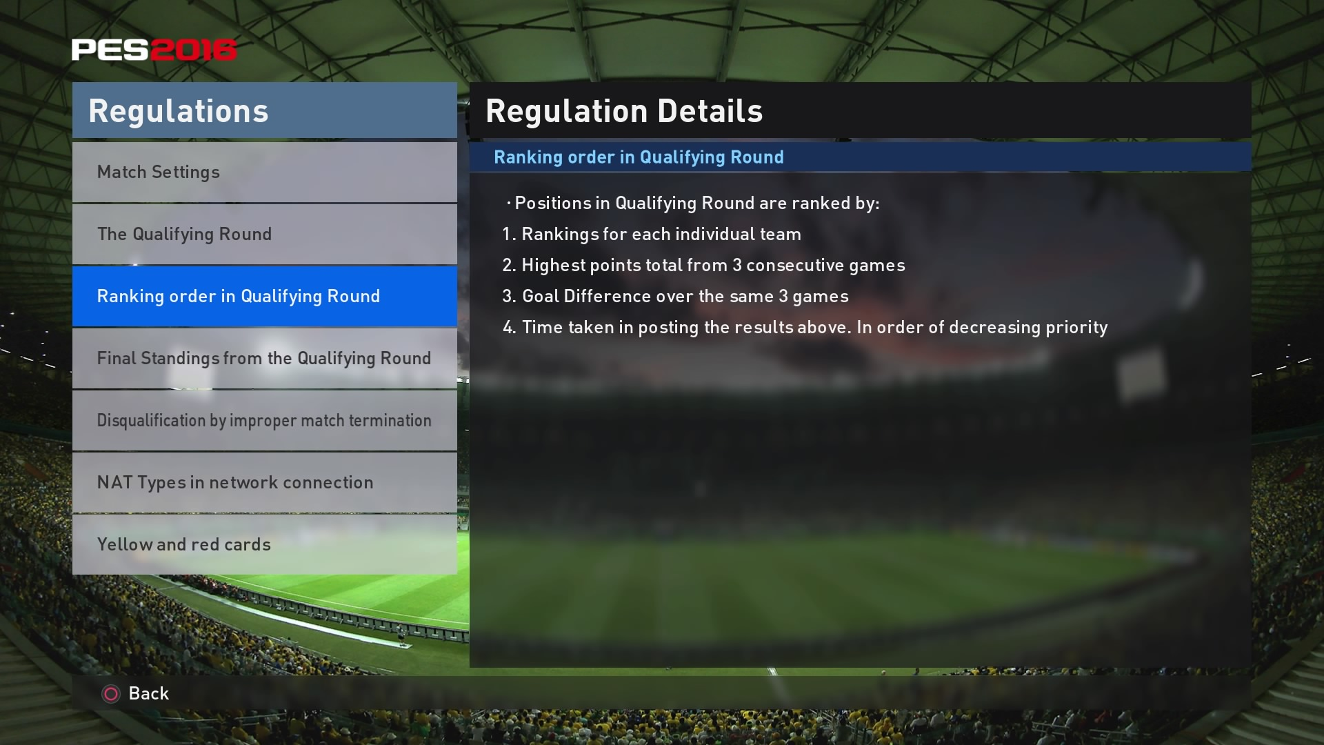PES Competitions Ranking