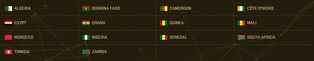PES 2017 Teams - Africa
