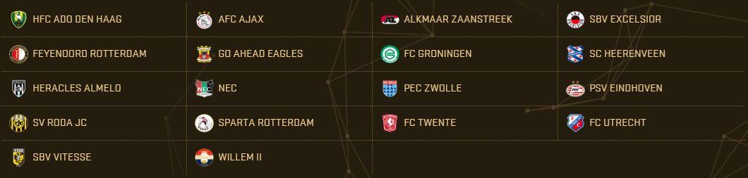 PES 2017 Teams - Eredivisie