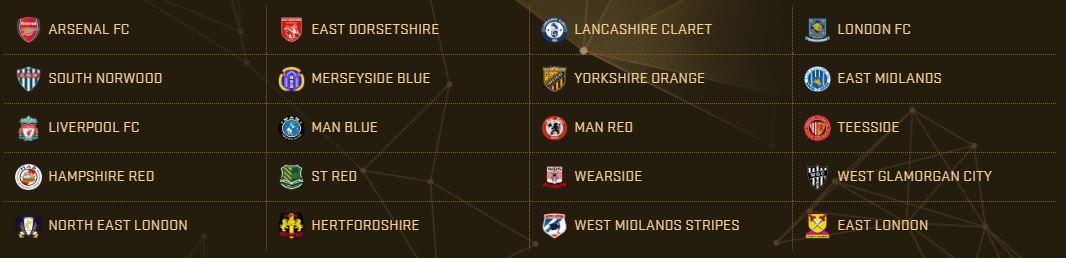 PES 2017 Teams - Premier League