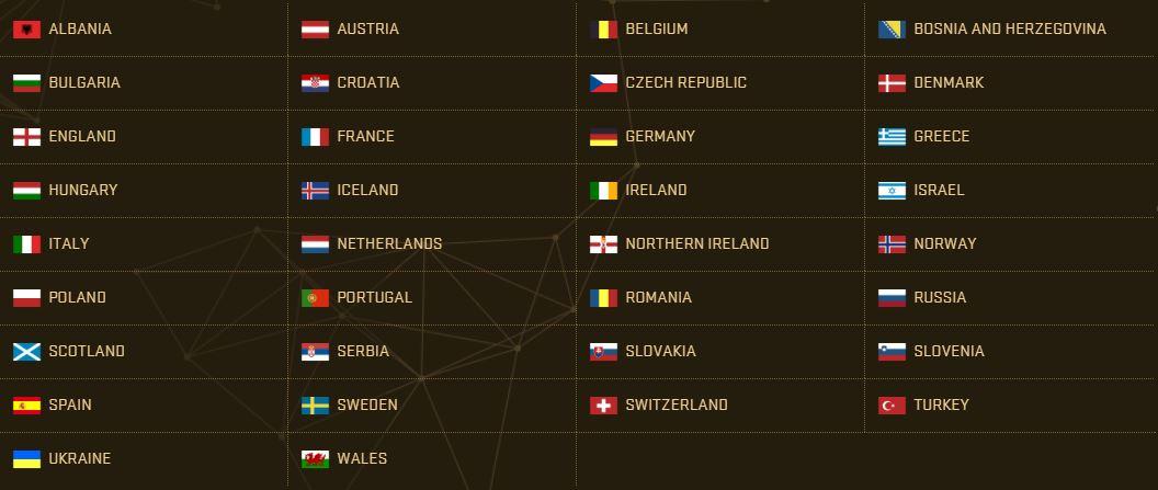 PES 2017 Teams - Europe