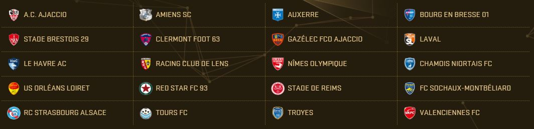 PES 2017 Teams - Ligue 2