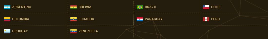 PES 2017 Teams - South America