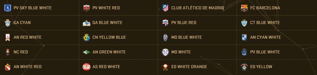 PES 2017 Teams - La Liga