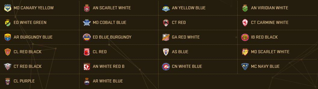 PES 2017 Teams - La Liga 2