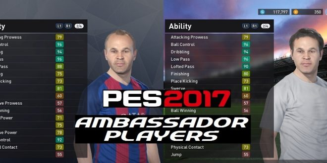 PES 2017 Ambassador Players